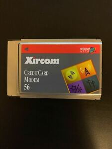 Xircom Credit Card Laptop Modem 56k PCMCIA