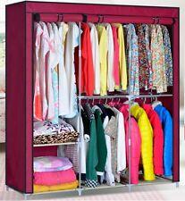 "Portable Closet Storage Organizer Wardrobe Clothes Rack Stainless Detachable 63"""