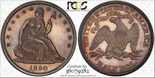 SUPER RARE 1890 PROOF Seated Liberty Half Dollar PCGS UNC Detail MINTAGE: 590