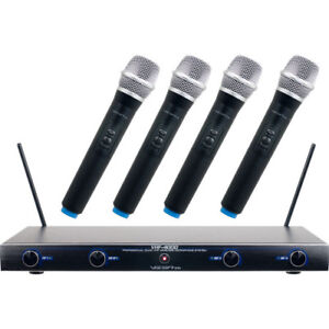VocoPro VHF-4000-2 Professional Quad VHF Wireless Microphone System