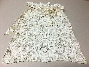 Lovely Antique VICTORIAN Era Ladies Ribbon Draw String LACE Handbag!