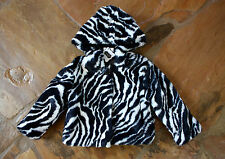 NWT Mud Pie Zebra Faux Fur Coat 2 2T 3 3T Girls Boutique