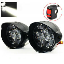 2x 18 LEDs Working Spotlight 30W 3000LM Motorcycle Headlight Lamp Fog Lights
