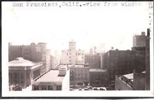 VINTAGE 1924 TOWN VIEW FROM WINDOW Y.W.C.A. SAN FRANCISCO CALIFORNIA OLD PHOTO