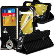 Carbon Fiber Mobile Phone Wallet Cases for Motorola Moto E