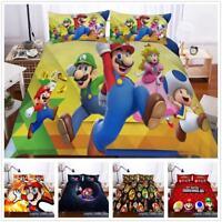 3D Super Mario Bros.Series Duvet Cover Bedding Set Pillowcase Quilt Cover Set