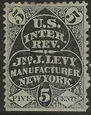 RU 12b  JJ LEVY 5 CENT MATCH AND MEDICINE STAMP--62