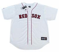 Boston Red Sox MLB Majestic Team Men's Replica Jersey White Big & Tall Sizes