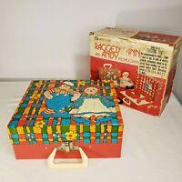 Raggedy Ann Andy Portable Record Player Phonograph Vintage 1974 Original Box