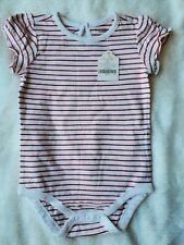 Gymboree Baby Bodysuit 6-12 Months Girl's Red White New