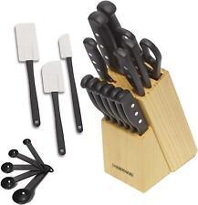 22 Piece Knife Block Set Kitchen Cutlery Sharpening Stainless Steel Chef Steak