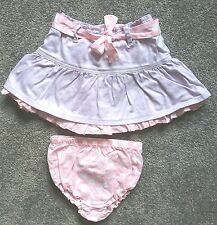 Baby Girls PRENATAL (Italy) Lilac/Pink Skirt & Bloomers Set Size 12-18