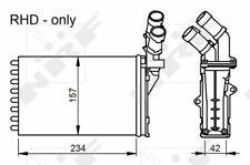 PEUGEOT PARTNER 5F 1.4 Heater Matrix 96 to 15 Exchanger Interior NRF 644880 New