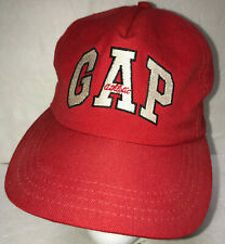 Gap Athletic Mens Hat Vintage 90s Snapback Made in USA Baseball Cap Red