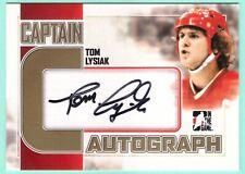 2011-12 ITG Captain-C Tom Lysiak gold version autograph /10