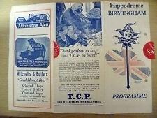 Hippodrome Theatre B'Ham Programme 1947- HELLO AMERICA