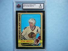 1972/73 O-PEE-CHEE NHL HOCKEY CARD 177 STAN MIKITA KSA 8 NM/MT SHARP!! 72/73 OPC