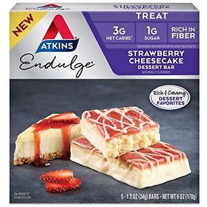 Atkins Endulge Treat Strawberry Cheesecake Dessert Bar