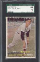1957 Topps baseball card #221 Dixie Howell, Chicago White Sox graded SGC 84 NM 7
