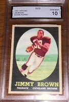 JIM BROWN 1958 TOPPS REPRINT RC CARD#52 GEM MINT 10 GRADED
