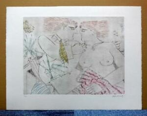 """ALECOS FASSIANOS""""MYTHOLOGIE QUOTIDIENNE""""ORIGINAL ETCHING SIGNED and NUMBERED #4"""