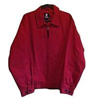 Vintage Chaps Ralph Lauren Red Jacket Full Zip Pockets Men's Size Large