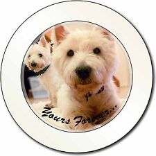 Westie Dog 'Yours Forever' Car/Van Permit Holder/Tax Disc Gift, AD-W1yT