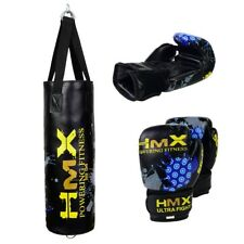 HMX UNFILLED KIDS PUNCHING BAG JUNIOR BOXING GLOVES SET MMA CHILDREN TRAINING NE