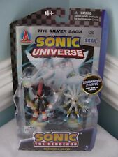 SONIC HEDGEHOG SHADOW & SILVER Comic Book 2 pack Action Figures Toys Super Rare