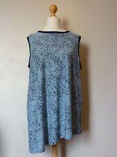 Next Floral Print Sleeveless Asymmetric Hem Vest Top Size 20 BNWT Pale Blue/Navy