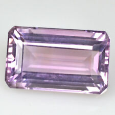 Natural Purple Pink Amethyst Emerald Cut Brazil Loose Gemstone 6.1 Cts Excellent