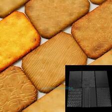 6pcs Tyre Pattern Cake Texture Mat Sugarcraft Fondant Decor Embossing Mold Tools