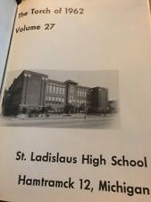 St. Ladislaus High School Yearbook 1962 Hamtramck Michigan + Reunion Booklet