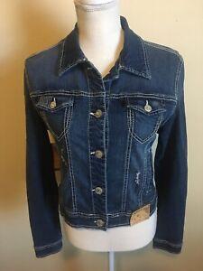 **NWT** AMETHYST JEANS Denim Jacket Sequins Buttons Juniors Size Large