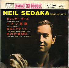 "NEIL SEDAKA ""SINGS HIS HITS"" POP ROCK 60'S EP RCA VICTOR 1004 JAPON !"