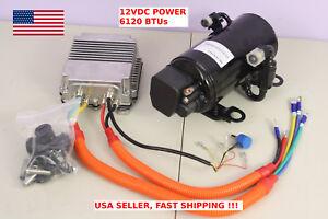 12V DC JFSB116Z12 Compressor with controller A/C Car Hot-Rod Solar 6120btu R134a