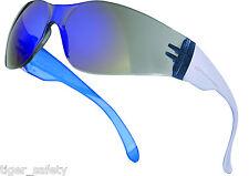 Delta Plus Venitex Brava Mirror Protective Safety Eyewear Glasses Lab Specs PPE