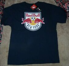 NEW ADIDAS MLS NY New York Red Bulls T Shirt Men Big Logo XL X-Large Soccer NWT