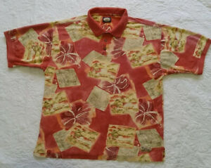 Mens Vintage Tommy Bahama Hawaiian Polo Shirt. Size XL