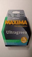 maxima ultragreen 8# one shot spool 220yds. new unopend