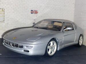 Ferrari 456 GT (1992) 1:18 Bburago Silver Diecast Model Car