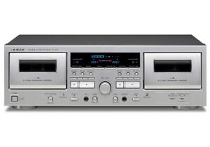 TEAC Double Cassette Deck W-1200 SILVERJapan Domestic genuine products