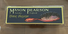 Mason Pearson Hair Brush BN4 Pocket Boar Bristle And Nylon Dark Ruby NEW
