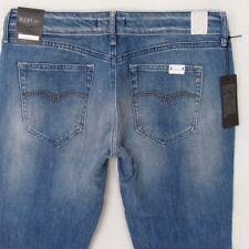NEW Womens Replay WX648 VICKY Stretch Slim Straight Jeans W32 L34 BNWT Size 12