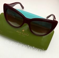 b238bc85f1 Kate Spade EMALEE Cat Eye Sunglasses 53mm ~ Russet   Warm Brown Gradient  0W88-B1