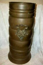 ANTIQUE SOLID COPPER ORNATE BRASS UMBRELLA CANE STAND FRENCH FARMHOUSE IRELAND