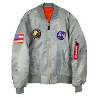 Apollo 13 NASA MA-1 Flight Bomber Jacket Silver NEW