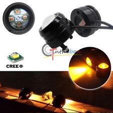 2x High Power 12v Amber 20w CREE Bull Eye LED Projector DRL Parking Fog Lights