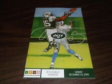 DECEMBER 10th, 2006 NEW YORK JETS PLAYBOOK VERSUS BUFFALO BILLS PROGRAM