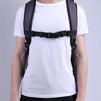2Pcs Adjustable Bag Backpack Webbing Sternum Chest Harness Buckle Clip Strap Set